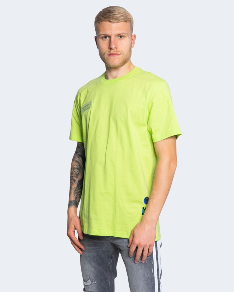T-shirt Disclaimer LOGO SPALLE Giallo fluo - Foto 1