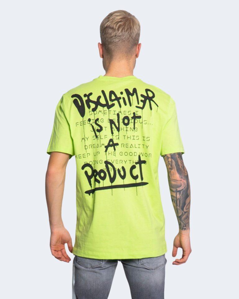 T-shirt Disclaimer LOGO SPALLE Giallo fluo - Foto 2