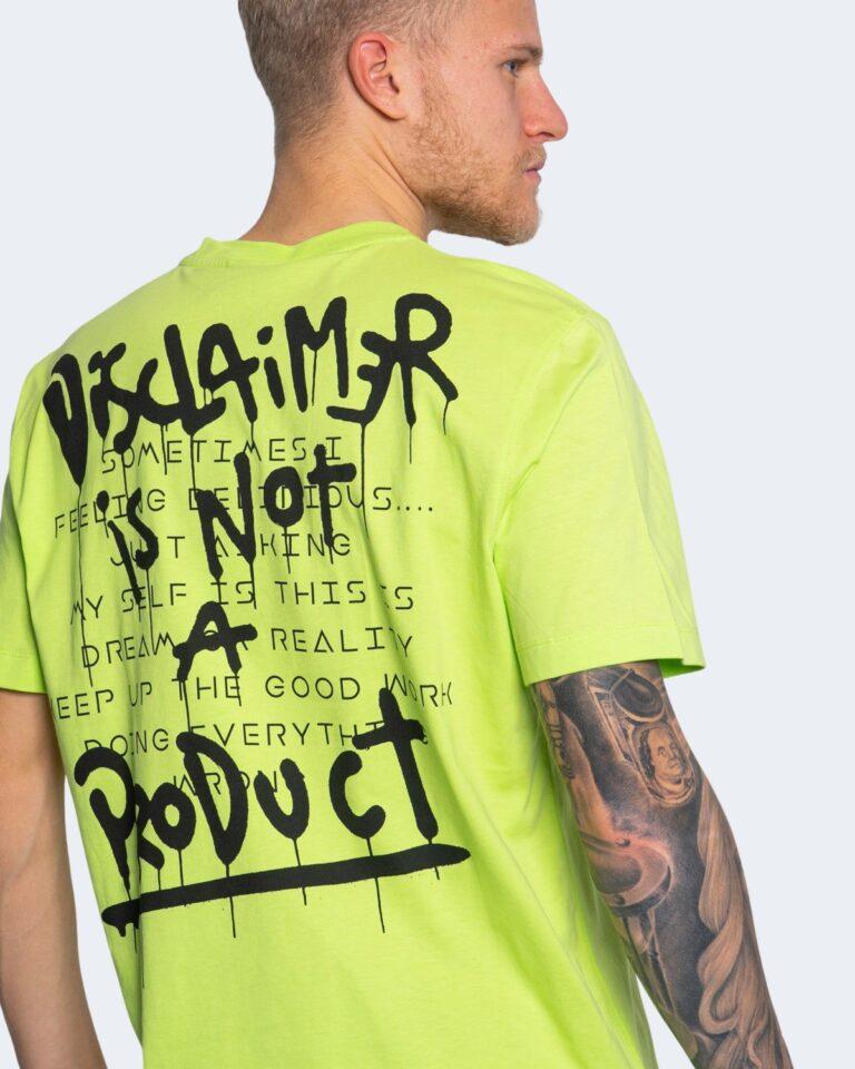 T-shirt Disclaimer LOGO SPALLE Giallo fluo - Foto 3