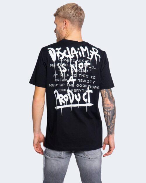 T-shirt Disclaimer LOGO SPALLE Nero – 66348