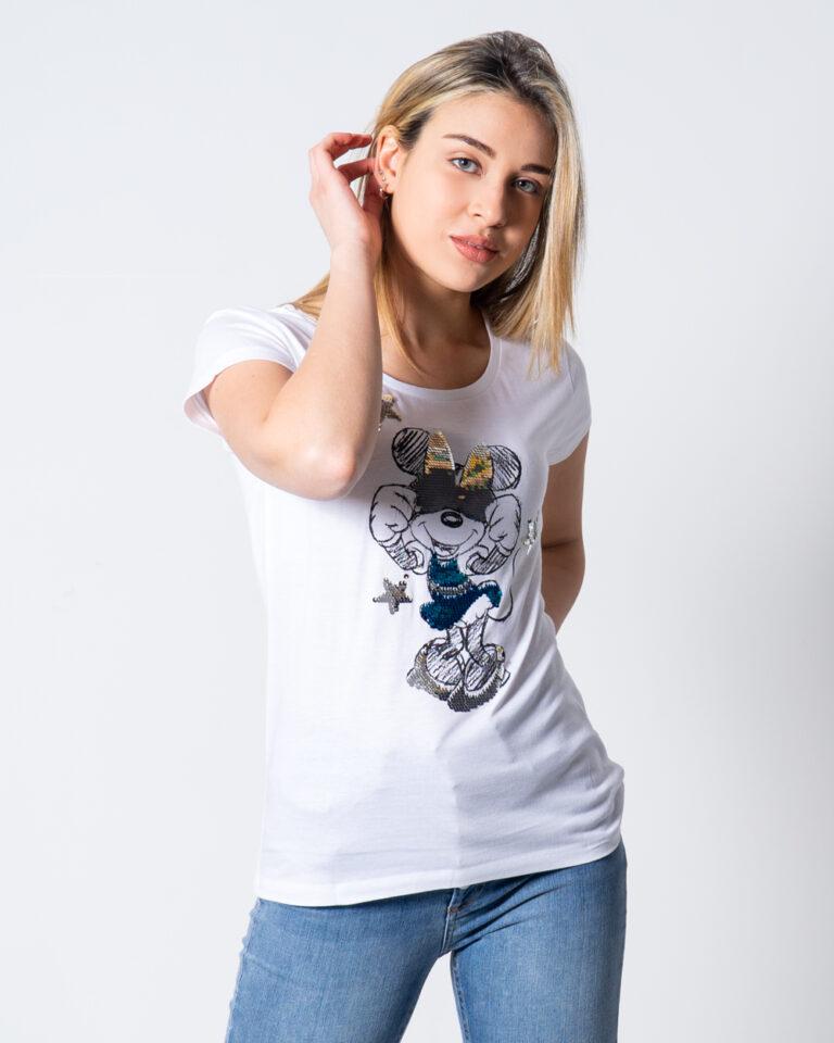 T-shirt Disney Minnie Paillettes Bianco - Foto 1
