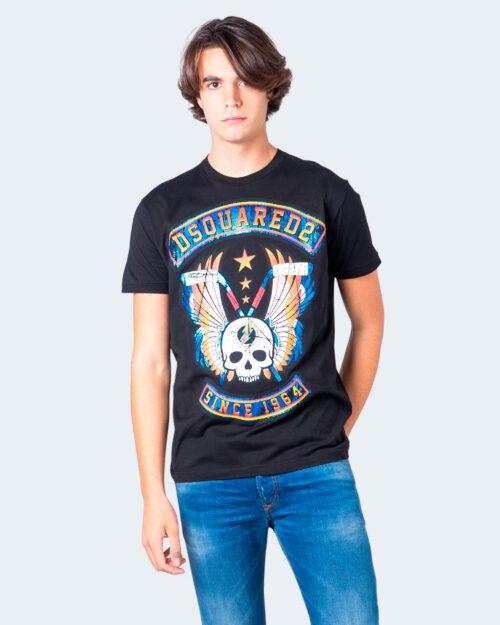 T-shirt Dsquared2 STAMPA TESCHIO Nero – 55732