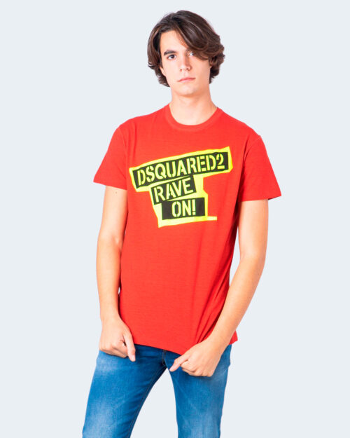 T-shirt Dsquared2 STAMPA RAVE ON Rosso – 55747