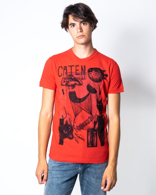 T-shirt Dsquared2 stampa sirena Rosso – 51018