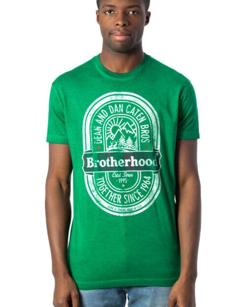 T-shirt Dsquared2 STAMPA BROTHERHOOD Verde – 40311
