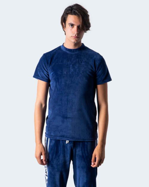 T-shirt Exclusive Paris LOGO FRONT CINIGLIA Blu - Foto 1