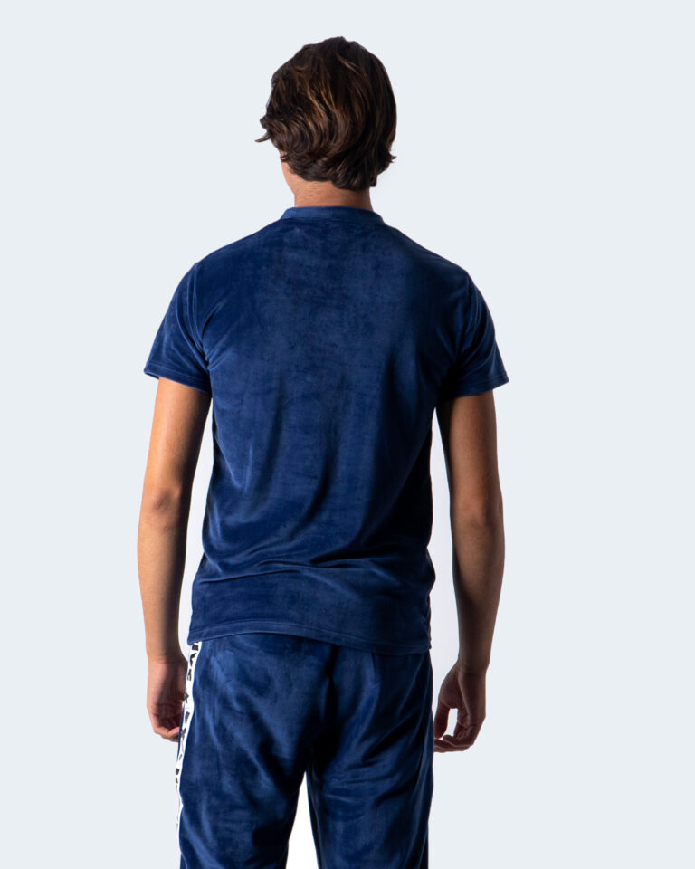 T-shirt Exclusive Paris LOGO FRONT CINIGLIA Blu - Foto 2