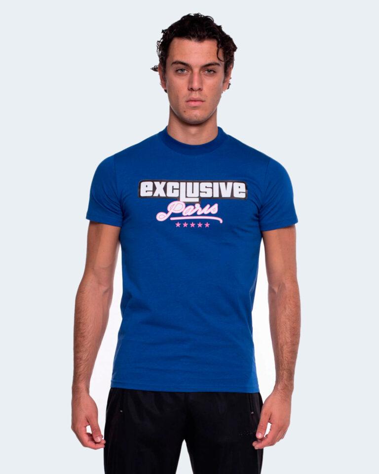 T-shirt Exclusive Paris LOGO PARIS Blu - Foto 1