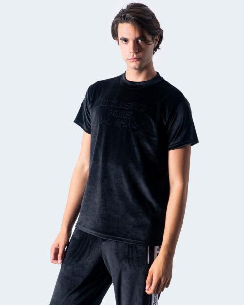 T-shirt Exclusive Paris LOGO FRONT CINIGLIA Nero - Foto 1