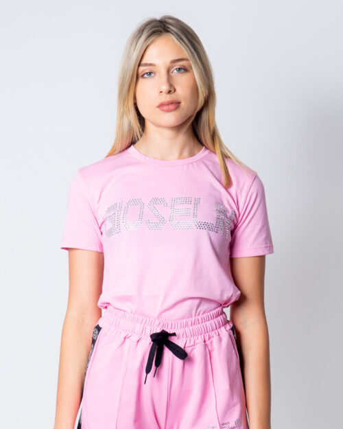 T-shirt Gioselin LOGO Rosa - Foto 1