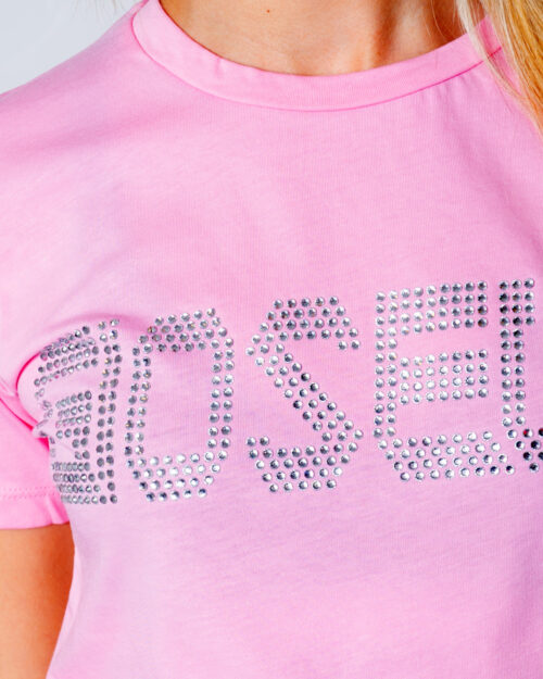 T-shirt Gioselin LOGO Rosa - Foto 3
