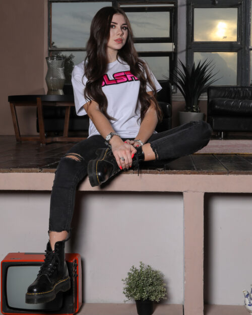 T-shirt GLSR LOGO IN RILIEVO Bianco - Foto 2