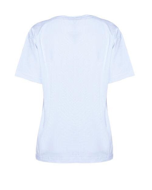T-shirt GLSR LOGO IN RILIEVO Bianco - Foto 4