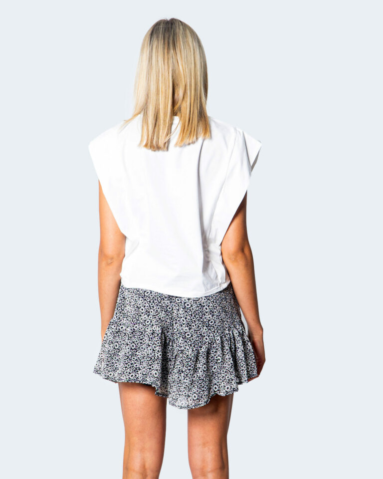 T-shirt I AM MANICA AD ALETTA Bianco - Foto 2