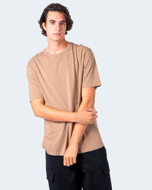 T-shirt Imperial CUCITURA FRONTALE Beige scuro - Foto 1