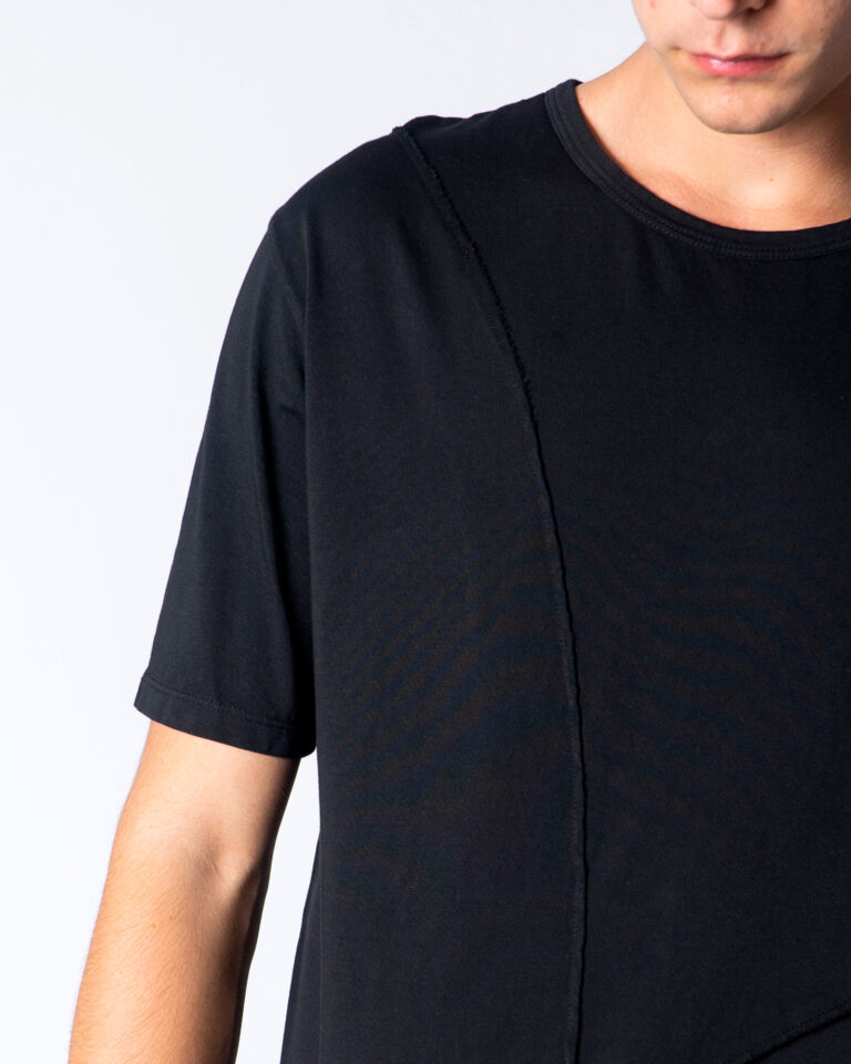 T-shirt Imperial CUCITURA FRONTALE Nero - Foto 4