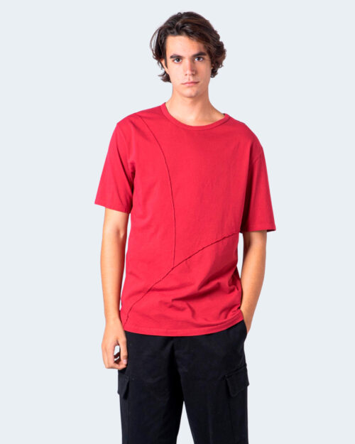 T-shirt Imperial CUCITURA FRONTALE Rosso - Foto 1