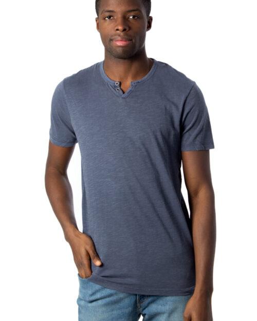 T-shirt Jack Jones ESPLIT NECK TEE SS NOOS Blu Chiaro – 39645