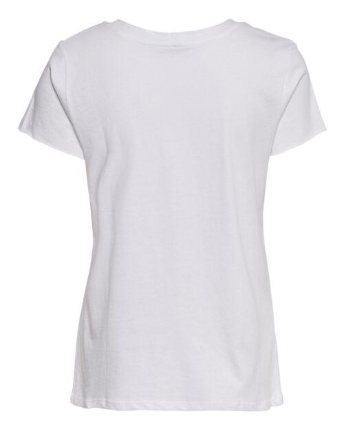 T-shirt Jacqueline De Yong DIANA LIFE PRINT TOP JRS Bianco – 41996