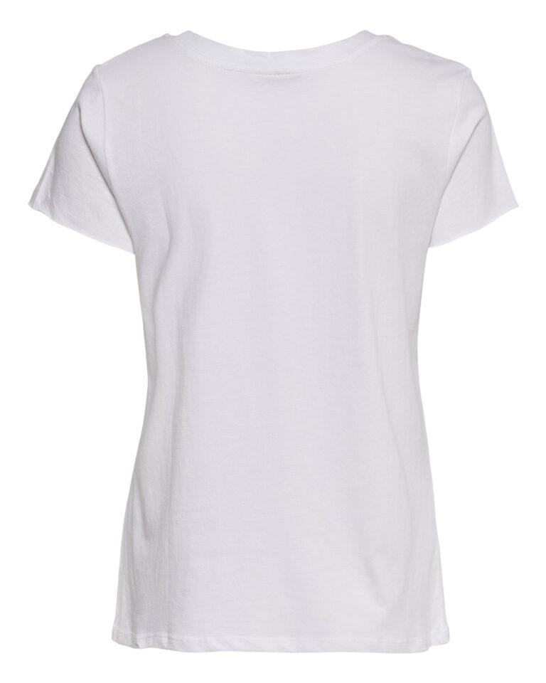 T-shirt Jacqueline de Yong DIANA LIFE PRINT TOP JRS Bianco - Foto 2