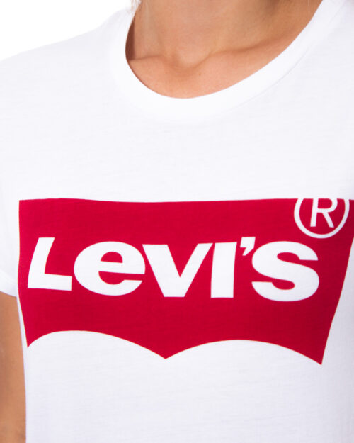 T-shirt Levi's® The Perfect Graphic Tee Bianco - Foto 3