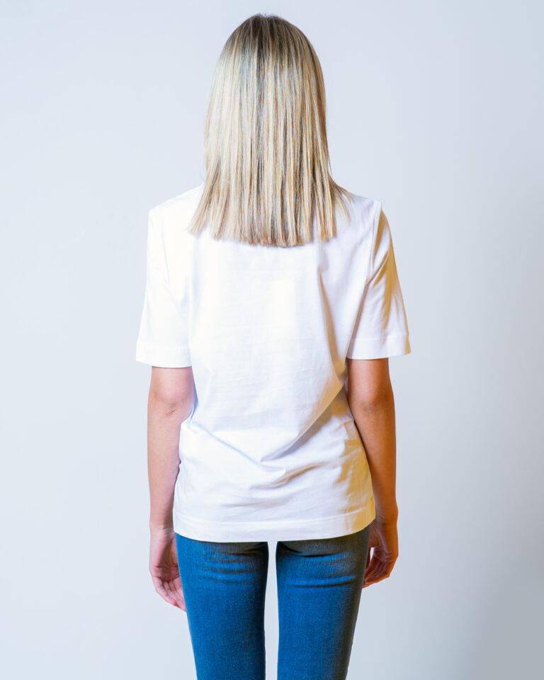 T-shirt Love Moschino CUORE LOGO Bianco - Foto 2