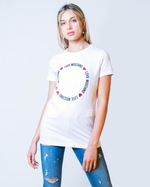T-shirt Love Moschino LOGO CORE Bianco - Foto 1