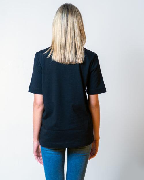 T-shirt Love Moschino CUORE LOGO Nero - Foto 3