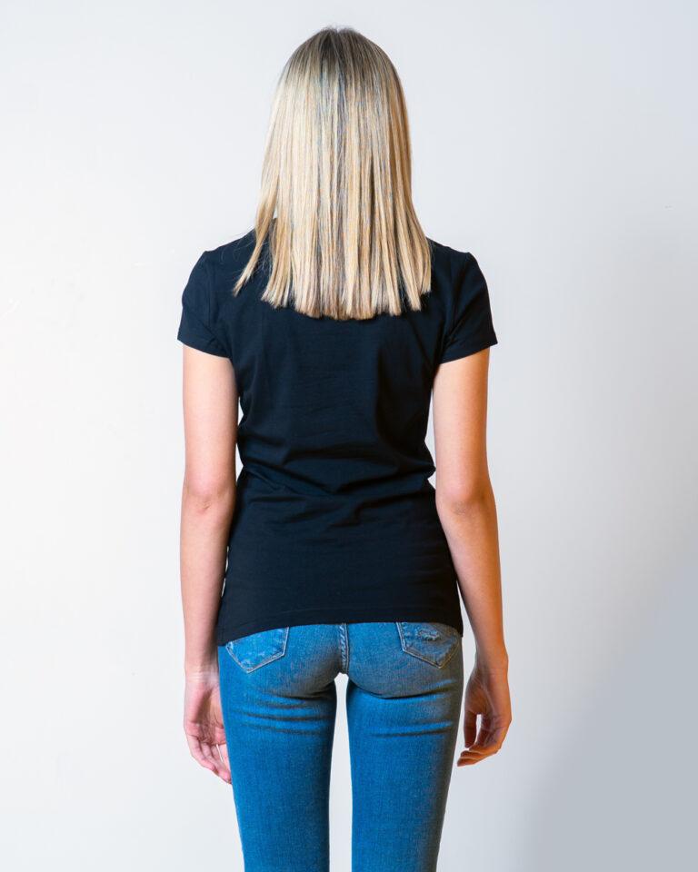 T-shirt Love Moschino STAMPA CUORE CORDA Nero - Foto 3
