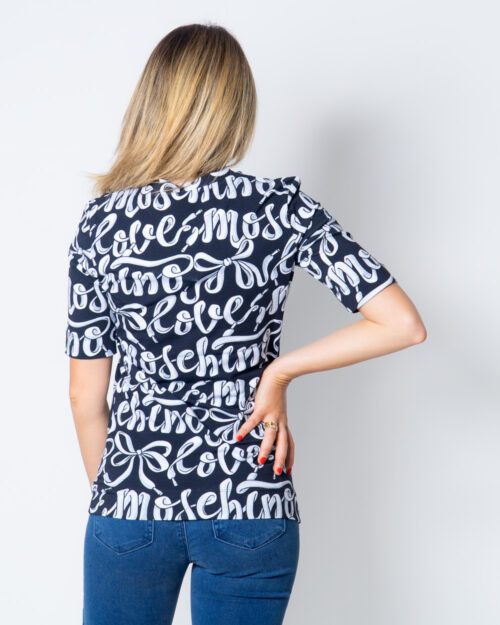 T-shirt Love Moschino Stampa Love Nero - Foto 2
