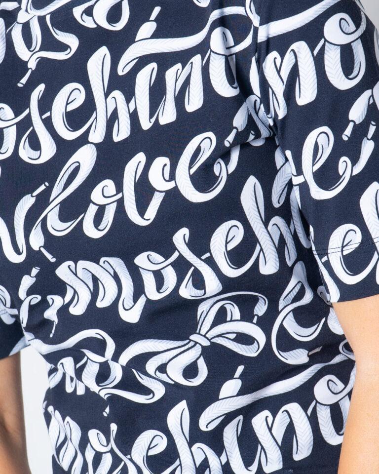 T-shirt Love Moschino Stampa Love Nero - Foto 3