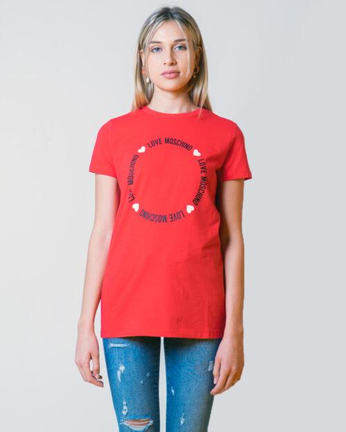 T-shirt Love Moschino LOGO CORE Rosso - Foto 1
