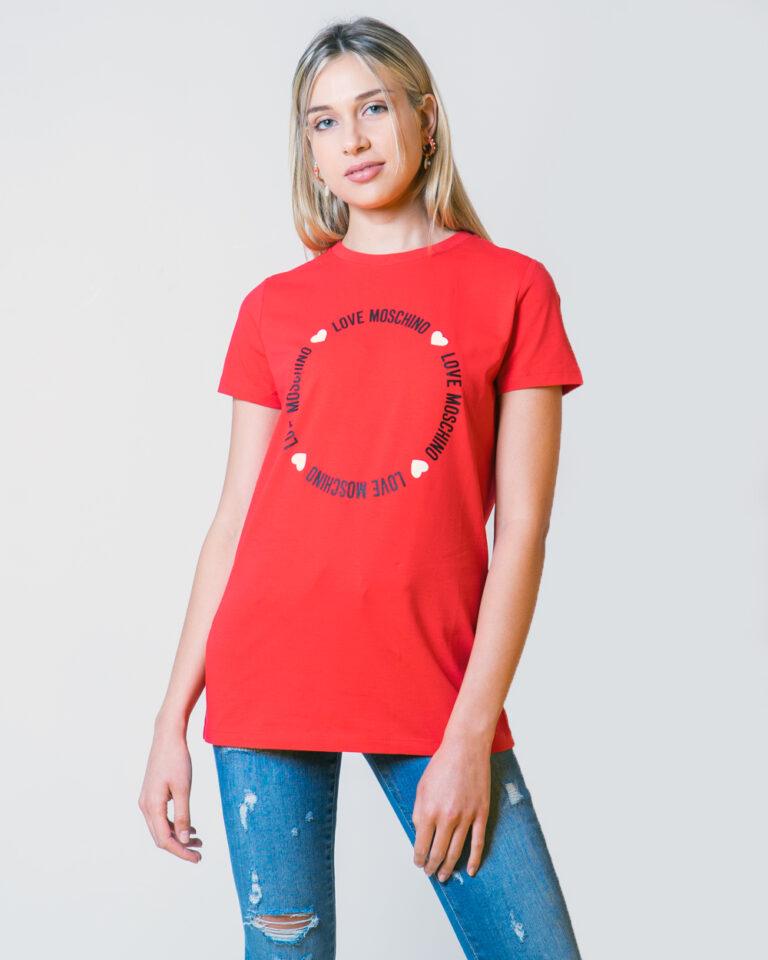 T-shirt Love Moschino LOGO CORE Rosso - Foto 2