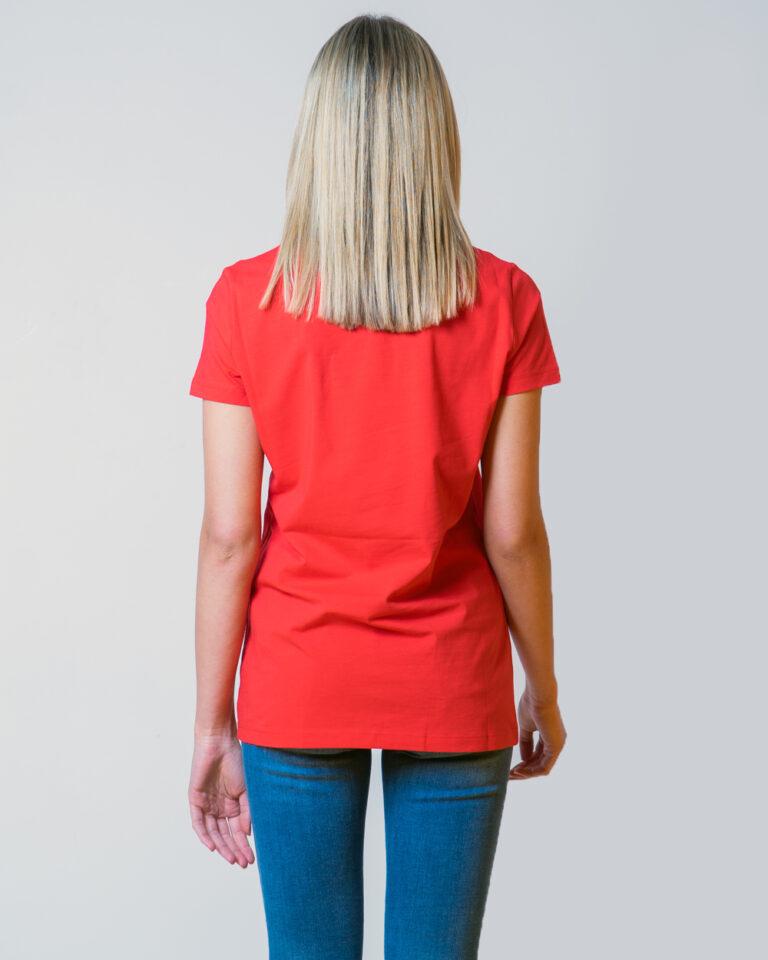 T-shirt Love Moschino LOGO CORE Rosso - Foto 3