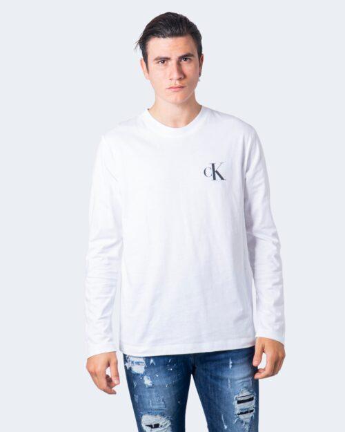 T-shirt manica lunga Calvin Klein CK Eco LS Tee Bianco – 59623