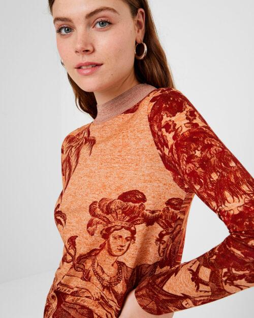 T-shirt manica lunga Desigual Ts versalles Beige scuro – 58338