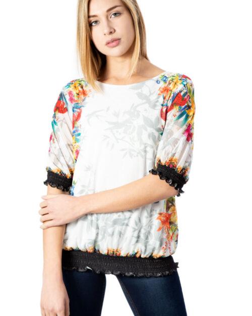 T-shirt manica lunga Desigual Ts Estocolmo Bianco – 39933