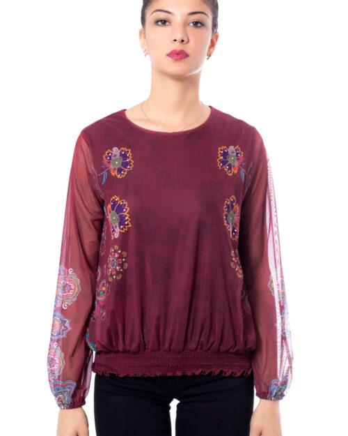 T-shirt manica lunga Desigual TS ANDORA Bordeaux – 29863