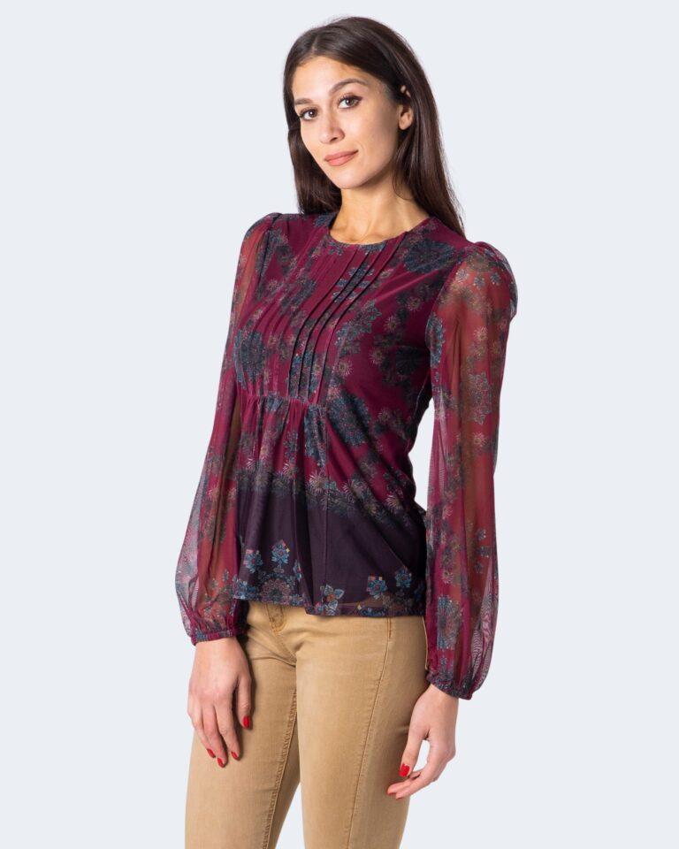 T-shirt manica lunga Desigual Ts lenny Bordeaux - Foto 2