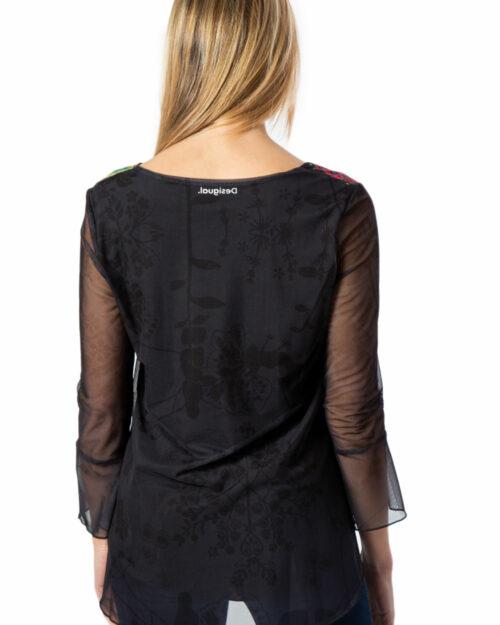T-shirt manica lunga Desigual Ts Brulé Nero – 39816