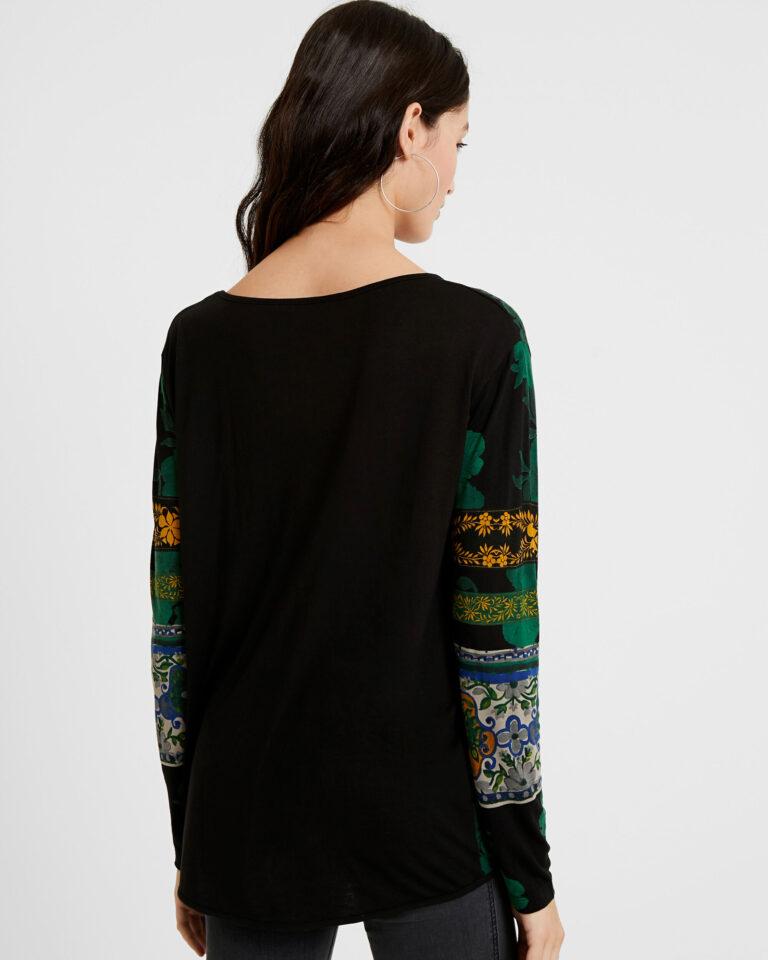 T-shirt manica lunga Desigual Ts yess Verde - Foto 3