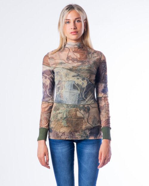 T-shirt manica lunga Desigual TS_CHATTE Verde – 53168