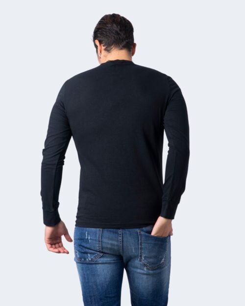 T-shirt manica lunga Dsquared2 STAMPA LOGO Nero – 55745