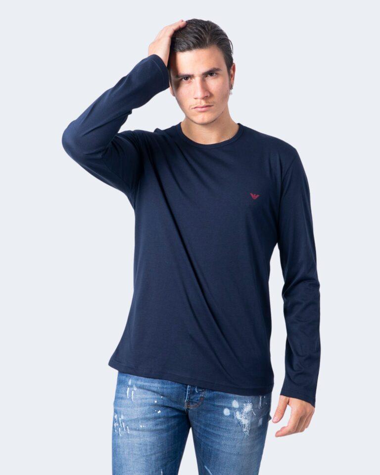T-shirt manica lunga Emporio Armani CREW NECK L/S LEEVE Blue scuro - Foto 1
