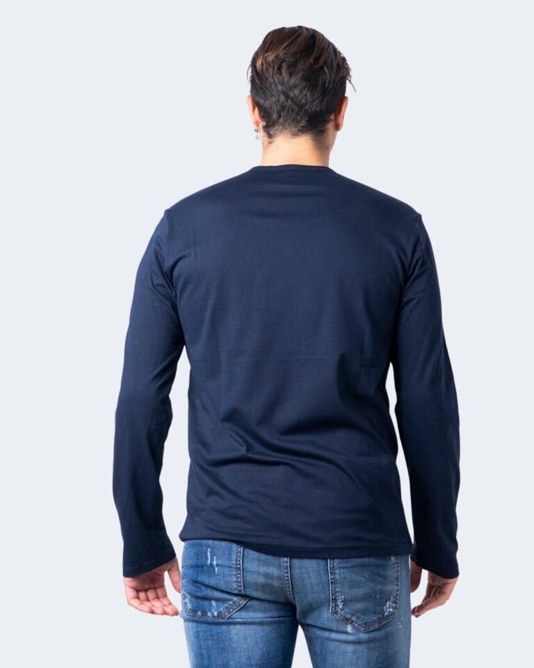 T-shirt manica lunga Emporio Armani CREW NECK L/S LEEVE Blue scuro - Foto 2