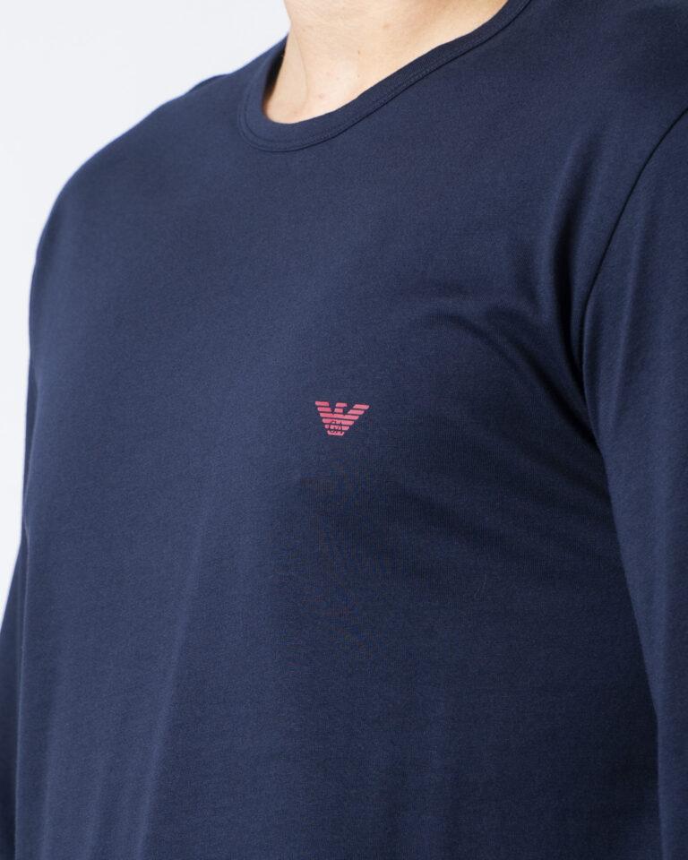 T-shirt manica lunga Emporio Armani CREW NECK L/S LEEVE Blue scuro - Foto 3