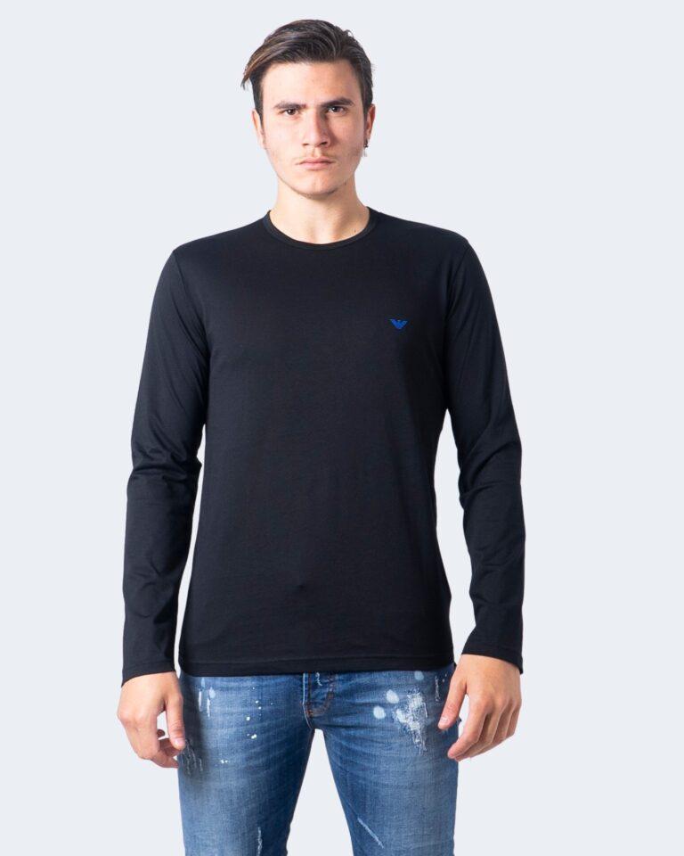 T-shirt manica lunga Emporio Armani CREW NECK L/S LEEVE Nero - Foto 1