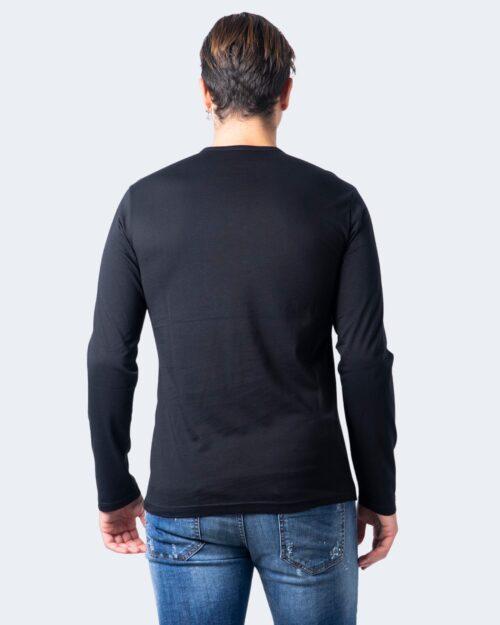 T-shirt manica lunga Emporio Armani CREW NECK L/S LEEVE Nero - Foto 2