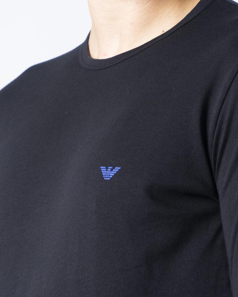 T-shirt manica lunga Emporio Armani CREW NECK L/S LEEVE Nero - Foto 3