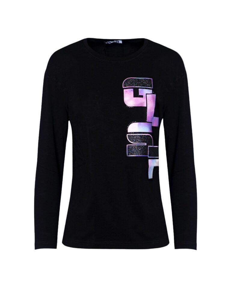 T-shirt manica lunga GLSR STAMPA LATERALE Nero - Foto 2